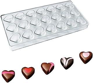 Wildlead Moule Chocolat en plastique, DIY Polycarbonate Moule avec 21 cavités en forme de cœur Moule Chocolat Candy Moule ...