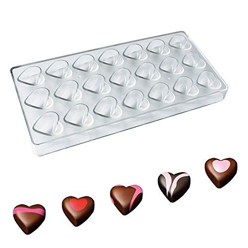 Wildlead - Molde plástico Forma corazón Chocolate