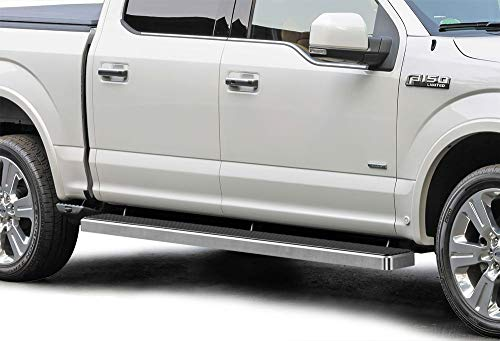 APS iBoard Running Boards 6 inches Compatible with Ford F150 2015-2021 SuperCrew Cab & F-250 F-350 Super Duty 2017-2021 Crew Cab (Nerf Bars Side Steps Side Bars)