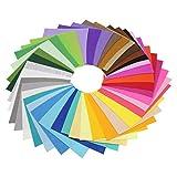 FiedFikt 60 Stück sortierte Farbe Pack DIY Craft Quadrate