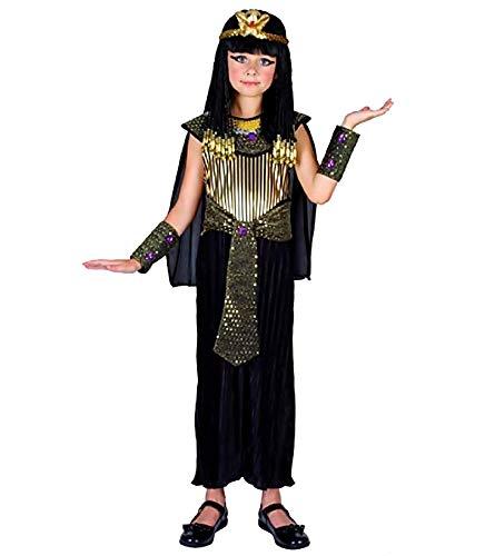 Disfraz de Cleopatra - Egipcio - negro - nia - disfraces infantiles - halloween - carnaval - 7/9 aos - fiestas - talla l - idea de regalo original