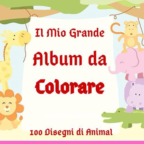 Il Mio Grande Album da Colorare: Oltre 100 pagine da colorare facili...