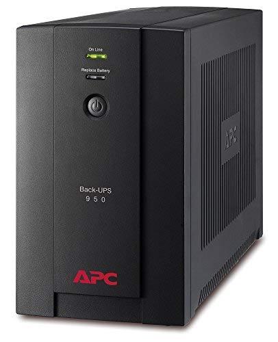 APC BX950U-FR Línea interactiva 950VA 4AC Outlet(s) Negro Sistema de alimentación ininterrumpida (UPS) - Fuente de...