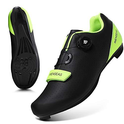 Cycling Shoes Men Road Mountain Riding Biking Shoes SPD/SPD-SL Indoor Cycling Shoes with Delta Cleat Black 8.5US