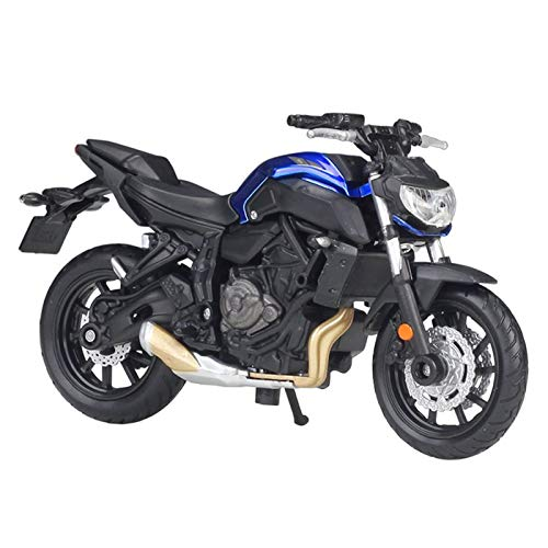 Modelo de Motocicleta a Escala 1:18 para Y-Yamaha MT-07 Vehículos Fundidos A Presión Modelo De Motocicleta Amortiguador Funcional Juguetes para Niños Colección De Regalos