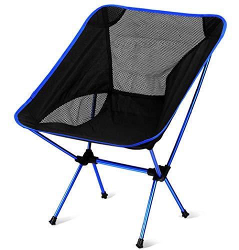 Amosiwallart Silla de Camping Plegable con Brazo Duro y portavasos y se Utiliza para Actividades al Aire Libre, Pesca, Festivales, Picnic-Edición Regular Royal Blue