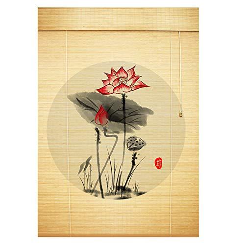 YILANJUN Estores Ventana - Personalizables - Persiana de Bambú Interiores - Cortina Puertas y Ventanas - Persianas Enrollables - 22 Tipos de Patrones Son Opcionales