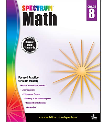Spectrum Math Workbook, Grade 8