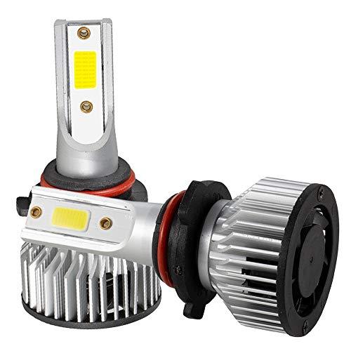 Nrpfell 2X 9005 / HB3 LED Faros Delanteros Kit de Haz Alto y Bajo 4000W 30000LM Bombillas Blanco 6500K