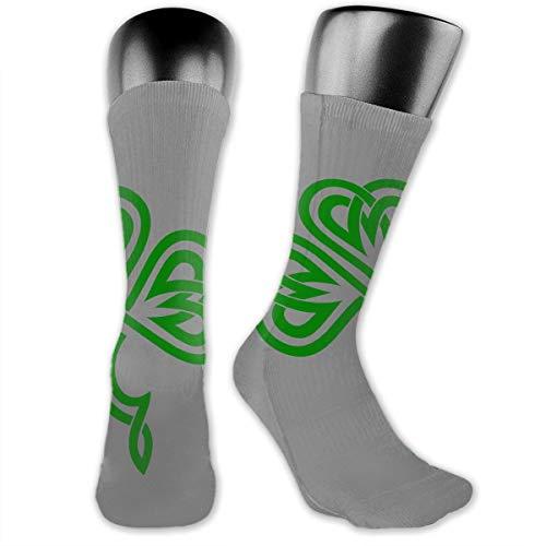 Rish Celtic Shamrock Socks Men's Women's Athletic Soccer Dress Socks Gifts Crew Socks