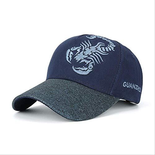 LQH Baseballkappe Adjustable Baseball Cap Scorpion Embroidery Hat for Men WomenNavy Baseballmütze