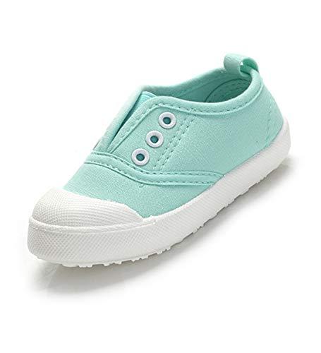 Kikiz Candy Color Kids Little Canvas Sneaker Boys Girls Casual Shoes Mint 11 M US Little Kid