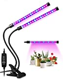 LED Plant Lights for Indoor Plants,20W Plant Grow Lamps,40 LED Lamp Beads,Dimmable 6 Levels,Dual Head Plant...
