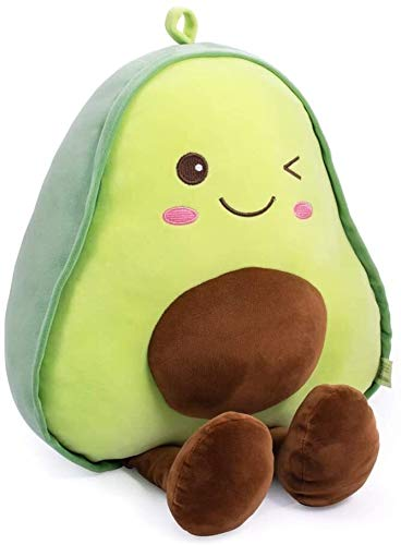 ICDOT Avocado-Frucht Weiche 16,5-Zoll-Plüsch-Spielzeug-Hugging Pillow Geschenke for Kinder, Mädchen, Junge, und Seine Freunde (squishable) (Farbe : A)