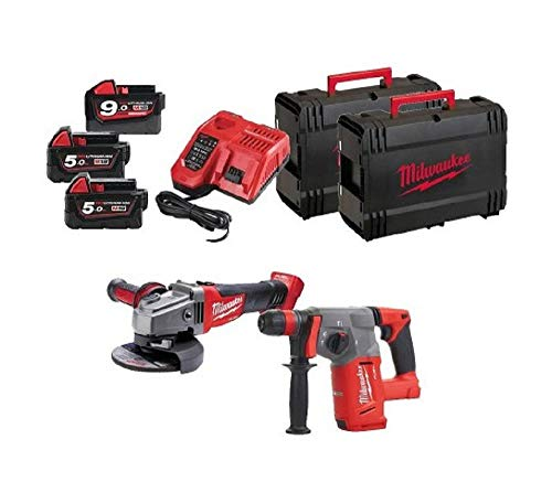 Milwaukee kit m18fpp2e-953 X Fuel Powerpack kit Fuel 18 V con M18 CHX + amoladora M18 cag115 X