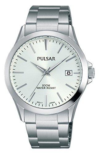 Pulsar Quarz Herren-Uhr Edelstahl mit Metallband PS9449X1