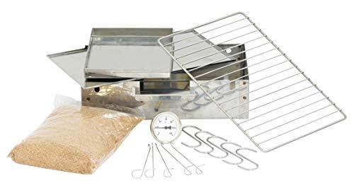 Räucherofen / Räucherschrank in Edelstahl + Elektro Set 2,0 kw mit viel Zubehör