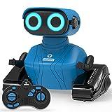 REMOKING RC Roboter Kinder Spielzeug, 2.4GHz Ferngesteuertes Auto mit Ton und Licht, Blaues Roboter Geschenk für Jungen und Mädchen