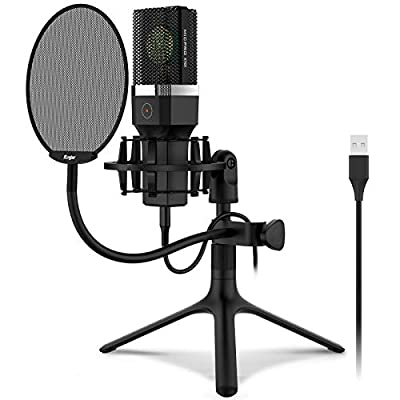 Amazon - 65% Off on USB Microphone, Kungber Condenser Computer PC Mic with Adjustable
