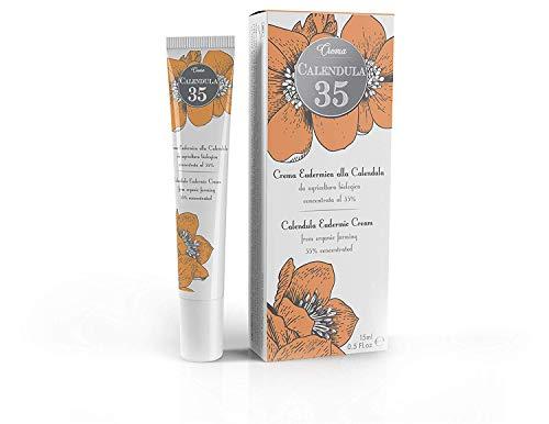 Dulàc - Crema Eudérmica De Caléndula - 15 ml - LA MÁS CONCENTRADA - Para el cuidado de tu piel - con Pantenol y Vitamina F - 100% Made in Italy - Calendula 35
