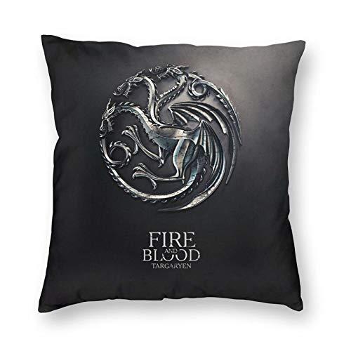 Custom made Juego de tronos de fuego y sangre, funda de almohada decorativa para decoración del hogar, sofá, dormitorio, cama de coche, sofá, sala de estar, 45 x 45 cm