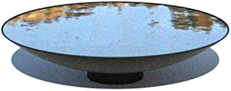Adezz 80cm Steel Powder Coated Water Bowl Feature Garden Feature Dish Metallic Grey