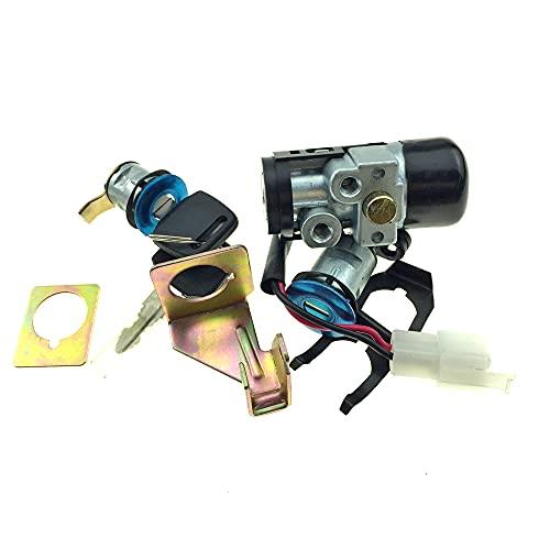 HYJ-BASUO, para DIO ZX AF18 AF27 AF28 AF34 AF35 Power Power Block Motocicleta de Bloqueo Completo Start Start Start Start Start Start Motor Bloqueador de Bloqueo (Color : ZX 2PIN)