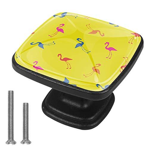 4 PCS Schubladenknopf,Feuervogel,Moebelknauf, Schubladengriffe, Kommodenknöpfe Schubladenknöpfe Set, Möbelgriff, modern, Knauf für Schrank Schublade Küche