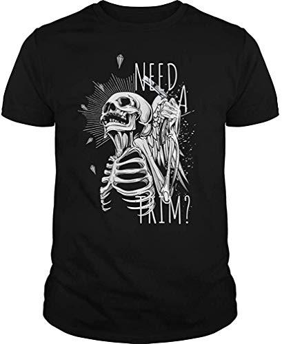 Camiseta Divertida del cráneo del Peluquero Necesita una Camiseta XXL