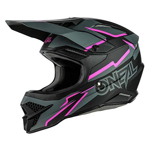 O'NEAL   Motocross-Helm   MX Enduro Motorrad   ABS-Schale, Sicherheitsnorm ECE 22.05, Lüftungsöffnungen für optimale Belüftung und Kühlung   3SRS Helmet Voltage   Erwachsene   Schwarz Pink   Größe L