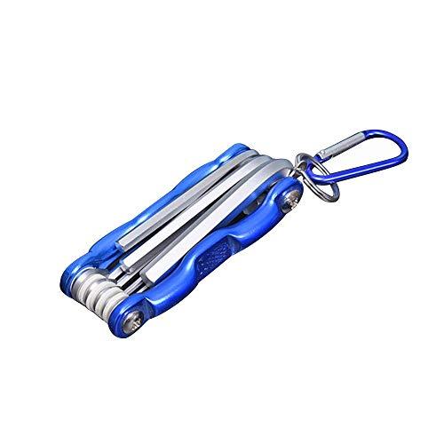 Folding Flat Head Hex Key Set Portable Allen Wrench Tool Spanner Repair Tools Tool