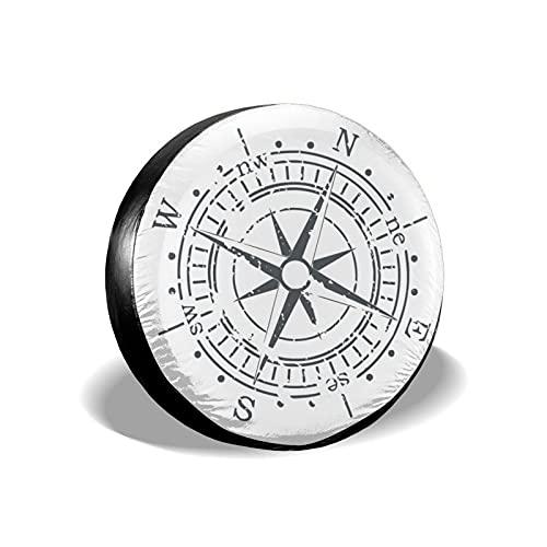 mengmeng Vintage Compass 4 fundas de rueda de repuesto universal para remolque...