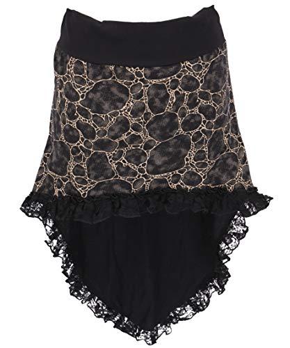GURU SHOP Minirock mit Spitze, Damen, Schwarz, Baumwolle, Size:One Size, Röcke/Kurz Alternative Bekleidung