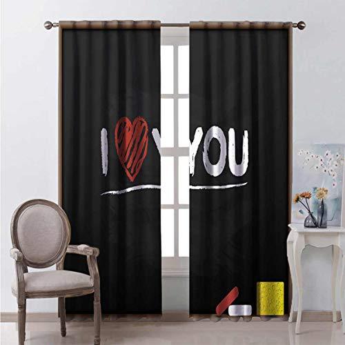 Toopeek Heat insulation curtain Cartoon Blackboard For living room or bedroom W63 x L63 Inch