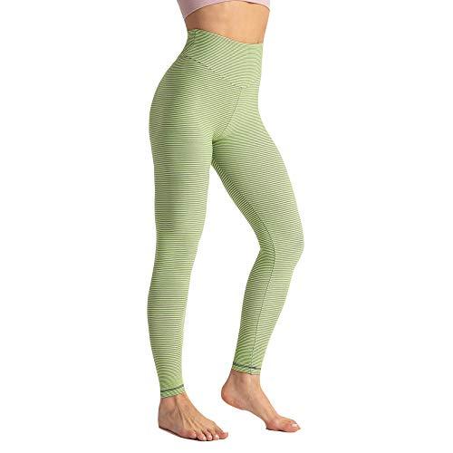 SUIYI Temporada de Verano Yoga Verde Yoga Leggings Pantalones Cintura Alta Pantalones Mujer Yoga para Mujer Pantalones De Running De Cintura Alta Medias De