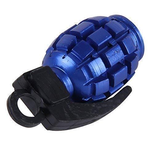 4 Stück Blaue Granate Handgranate Ventilkappen für Autos PKW LKW Motorrad