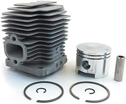 Viudecce 44MM TH48 Kit de Cilindro para Kbl48 KBH48 KAAZ Recortadora Desbrozadora Cabezal Zylinder Anillos de PistóN Conjunto de Clips de Pasador