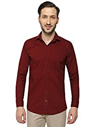 2edb48983ad INSPIRE MAROON SLIM FIT CASUAL SHIRTS FOR MEN