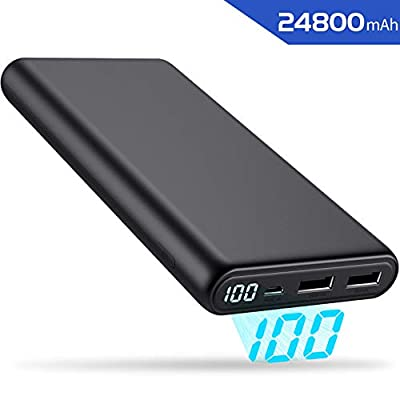 ?2020 Updated?Universal Power Bank, Feob Portable Phone Charger 24800mAh External Battery Pack with 2 USB Ports, Smart IC Charging Power Pack Power Banks for iPhone Samsung Huawei all Mobile Phones
