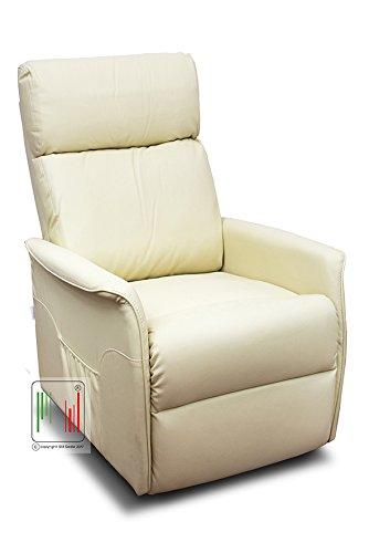 Stil Sedie Poltrona Nancy Recliner reclinabile Relax alzapersona con Telecomando e 2 rotelle (Beige)