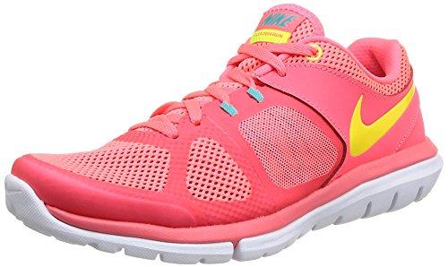 Nike Wmns Flex 2014 RN, Scarpe Sportive, Donna, Multicolore (Hypr Punch/VLT/Actn Rd/Hypr JD), 38.5