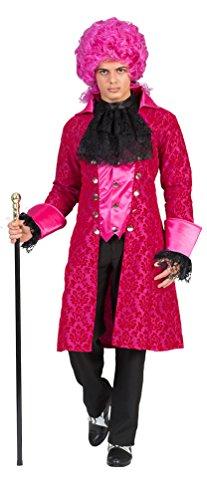 Kostüm Marquis Jolando Herren Rokoko Barock Graf Größe 52/54 Renaissance schwarz pink Adel...