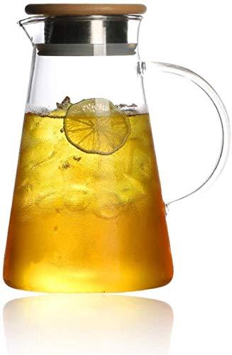 Tetera de cristal Tetera de jarra jarra de agua con la tapa de la botella de agua del jarro-plástico-Libre garrafa de cristal garrafa de agua - BPA copa jarro y jarro de agua té Jug Boquilla juego de