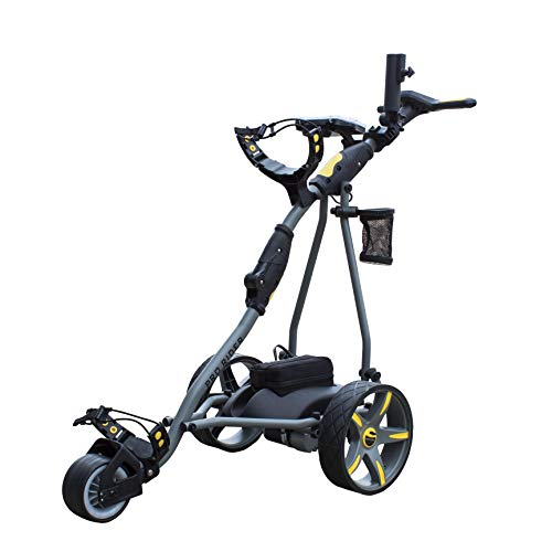 Pro Rider Unisex's Grey and Yellow with Lithium Battery Electric Golf Trolley,...