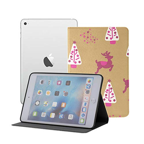 iPad Mini 1/2/3 Case - 360 Degree Rotating Stand Smart Cover Case with Auto Sleep Wake Feature,Christmas Holidays Repeat