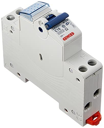 Gewiss GW90027 Interruttore Magnetotermico 16A, 1P+N, 4,5KA, Automatico, Multicolore