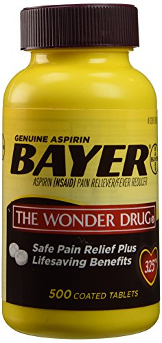 Bayer Aspirin Pain Reliever 325mg - 500 Tablets