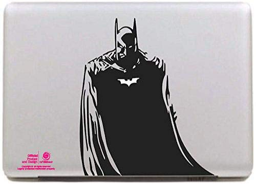Artstickers. Pegatina para portatil de 15' y 17' Pulgadas. Diseño Batman Adhesivo para Apple MacBook Pro Air Mac Portátil. Color Negro. Regalo Spilart, Marca Registrada