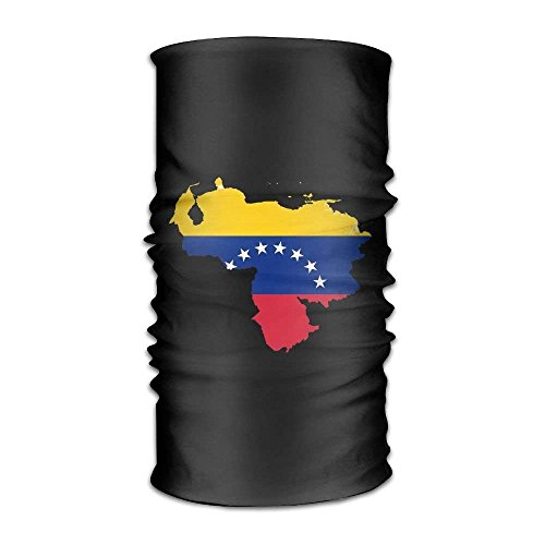 Ejdkdo Flag Map of Venezuela Headwear for Men and Women-Yoga Sports Travel Workout Wide Headbands,Neck Gaiter,Bandana,Helmet Liner,Balaclava,Hair Turban,Scarf Design9