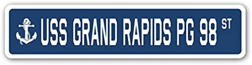 USS Grand Rapids PG 98 Street Sign us Navy Ship Veteran Sailor Gift